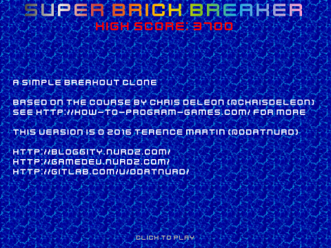simple title screen